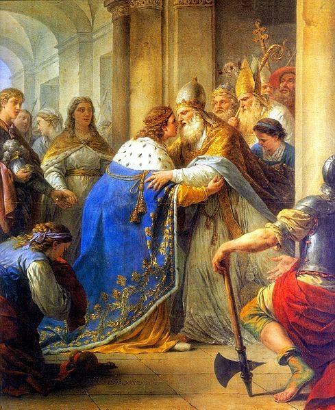 Entrevue de Saint Louis, roi de France, et du pape Innocent IV, à Lyon