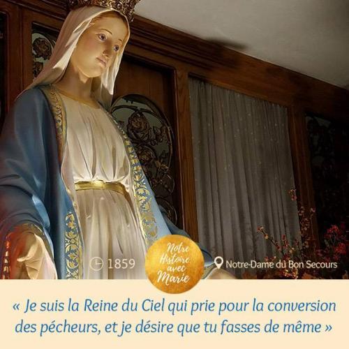 Je suis la Reine du Ciel qui prie pour la conversion des pécheurs, et je désire que tu fasses de même