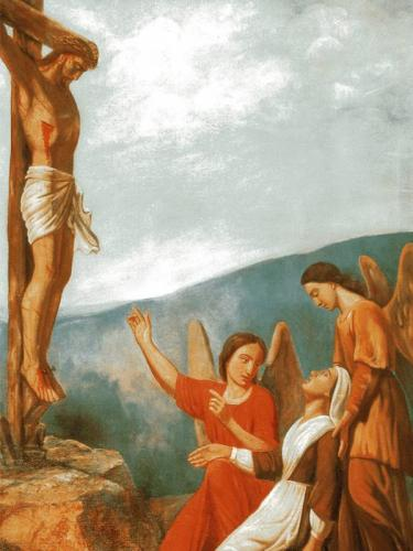 Vision du Christ en croix