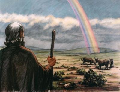 Noé arc-en-ciel