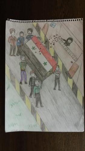 Dessin d'enfant syrien