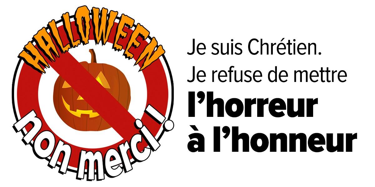 Halloween, non merci ! Chrétiens, refusons de mettre l'horreur à l'honneur