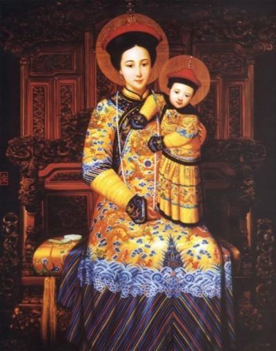 Icône religieuse de Notre Dame de Chine - Donglü (Chine)