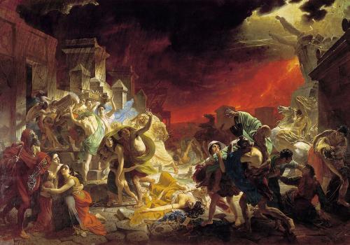 Peinture de Karl Briullov, Le Dernier Jour de Pompéi (1827–1833)