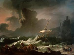 Le naufrage de l'apôtre Paul devant Malte - Backhuysen, Ludolf 1630–1708