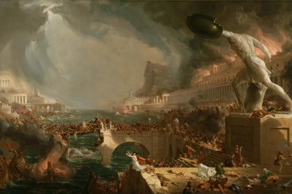 'Destruction' 1836, part of the 'Course of Empire' series, by Thomas Cole Wikipedia